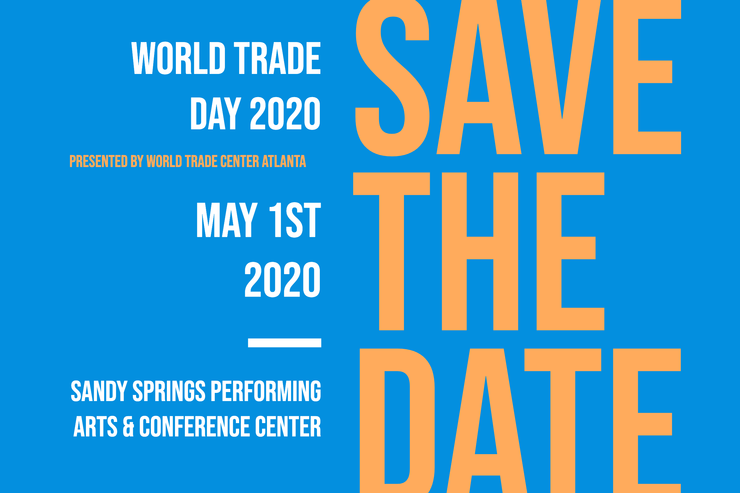 Save The Date World Trade Day 2020
